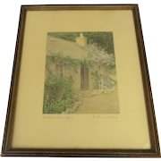 Wallace Nutting Hand-Tinted Photograph 'Scotland Beautiful' Signed Framed