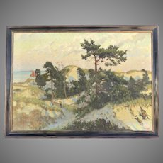 Very Large Oil on Canvas Painting Landscape by Fritz Karfve (1880-1967)