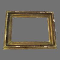 Vintage Wide Molded Gilt Frame Non Directional As Is