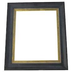 Vintage Non Directional Frame Black Gilt Slip