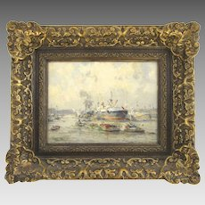 Dutch Painting Oil on Board by Evert Moll 1878-1955