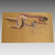 Vintage Nude of a Woman on Butcher Paper