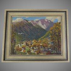 Oil Painting by Harold Vincent Skene Georgetown, Colorado 1968