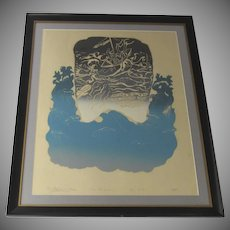 Print by David Erez Signed Dated 1973