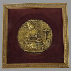 19th Century Gilt Relief Mary Magdalene Very Fine Work