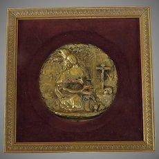 19th Century Gilt Relief Mary Magdalene Very Fine Work