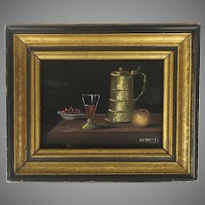 Miniature Oil Painting Still Life by Argentinian Artist Henry Ramirez