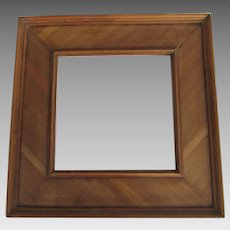 Walnut  Square Wide Frame Made from Antique Bed Rails Perfect for a Mirror