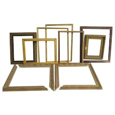 Vintage Picture Frames Wood Gilt Lot of 9