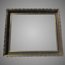 Vintage Picture Frame Wood Gilt and Paint Non-Directional Large