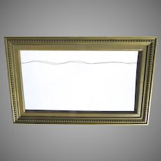 Vintage Picture Frame Painted Carved Wood Non-Directional Large