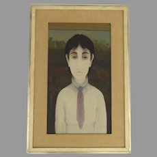 Painting Oil on Artist Board by Marcello Boccacci  (1914 - 1996)