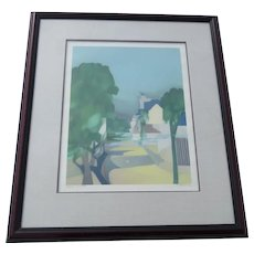 Alfred Defossez Limited Edition Lithograph  Le village