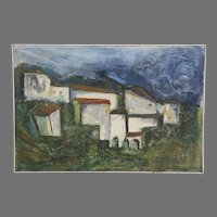 "Oil on Canvas Signed Wm Evilsizer Dated 1966  ""Villa"""