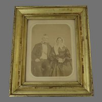 19th Century Molded Gilt Frame Portrait