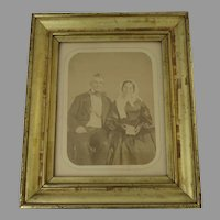 19th Century Molded Gilt Frame Portrait