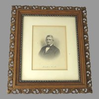 Vintage Frame with Old Print of a Man