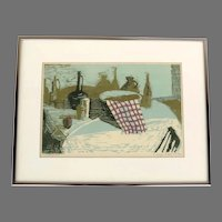 Monoprint by Leigh Seacord Still Life Signed Dated