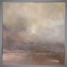 "Very Large Painting by Nancy Hannum 71"" by 71"" Atmospheric"