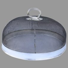 Large Food Dome Wire Silver Plated Retailed by Hardy Bros. Australian