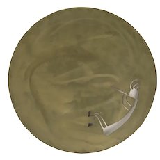 Signed and Dated Bronze by Fred Myers Petroglyph Kokopelli Wall Disc