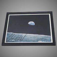 Signed Earthrise Photo Bill Anders to Senator Peter Dominick Astronaut Apollo 8