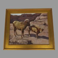 Painting on Board by Susan Bell, Colorado Ram