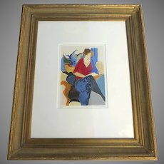 Itzchak Tarkay Original Serigraph Signed AP Artist Proof Framed Grace III