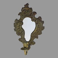 Small Repousse Rococo One Arm Sconce Mirror