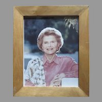 Vintage Signed Photo of Betty Ford First Lady to Senator Peter Dominick's Wife Nancy