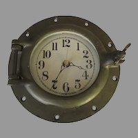 Vintage Brass Bronze Boat Ship Porthole Wilcox Crittenden #7 Porthole (clock)