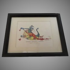 "Robert Marble Pencil SIGNED PRINT ""Dragon Draggin Dragon"""
