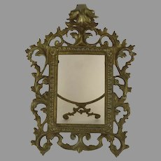 Gilt Brass 19th Century Easel Back Frame