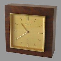 Mid Century Swiss 15 Jewel Clock  Marshall Field & Company