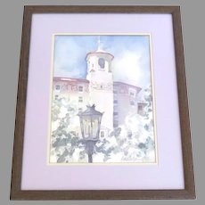 Painting Water Color by Lara Coley  The Broadmoor Hotel Colorado Springs
