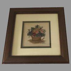 Vintage Theorem Folk Art Painting by Sandy Honan