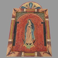 Carved and Painted Lady of Guadalupe by Jacobo de la Serna