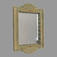 Vintage Charlie Esquibel, Chimayo Hand Carved Spanish Colonial Mirror Non Directional