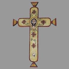 Signed Dated Cristo Retablo Bulto by Jerry Mondragon 1994