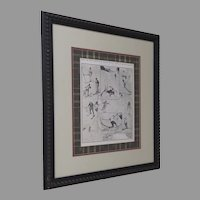 Beautifully Framed Print of Skiing after C. Fleming Williams Ski Lodge Mountain Home