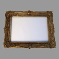 19th Century Large Gilt Non Directional Frame Shell Motif