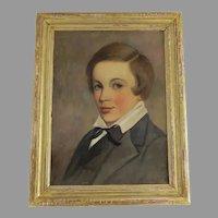 Gilt Framed Portrait of 19th Century Boy 'Horace St. John'