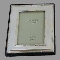 Vintage Small Godinger Silver Plated Picture Frame Easel Back