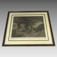 """Color Engraving by William Word, """"The Warrener"""" by George Morland"""
