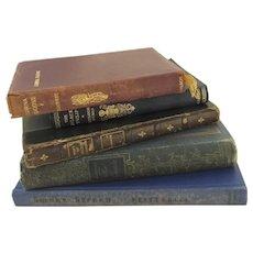 Vintage Books Set of 5 for Display