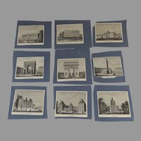 Vintage Small French Prints Re-purpose Paris Scenes