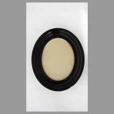 Ebonized Small Wood Oval Frame by Geo. F. Of, New York Master Framer