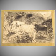 Pencil Sketch by Herman Hartwich 1853-1926
