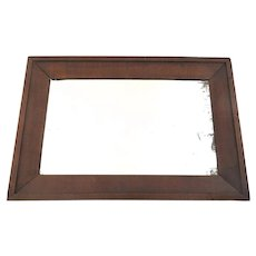 American Empire Walnut Framed Mirror Non-Direction