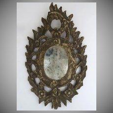 Italian 18th Century Carved Mirror Oval